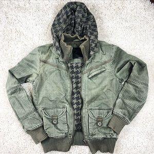 Hurley Distressed Military Jacket
